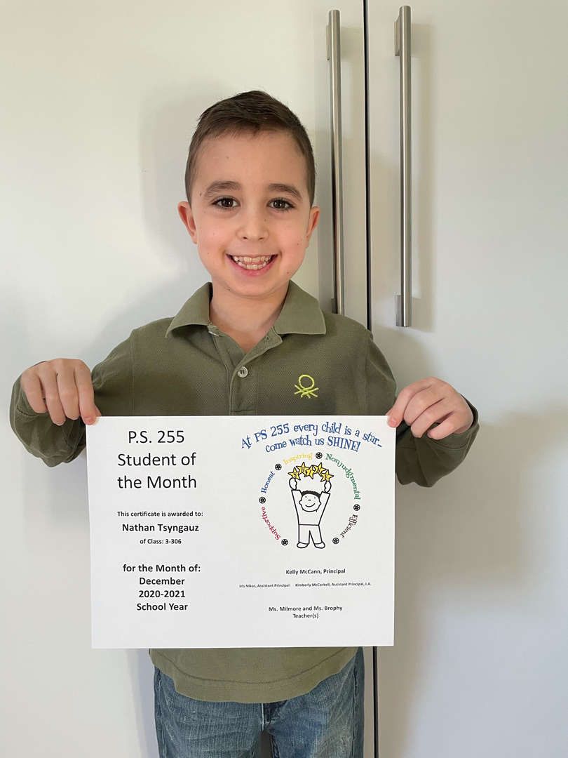 Nathan December Student of the Month