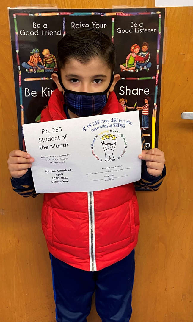 Emiliano April Student of the Month