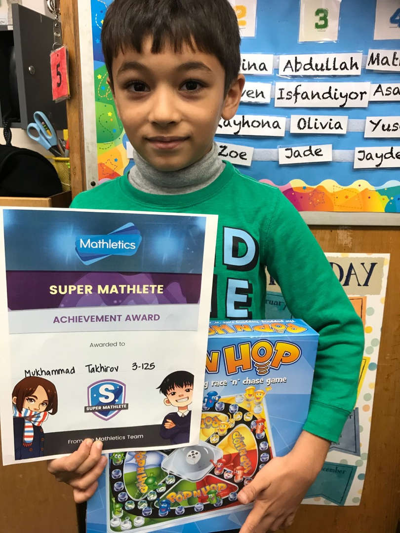 Student who is the Mathletics winner for September.
