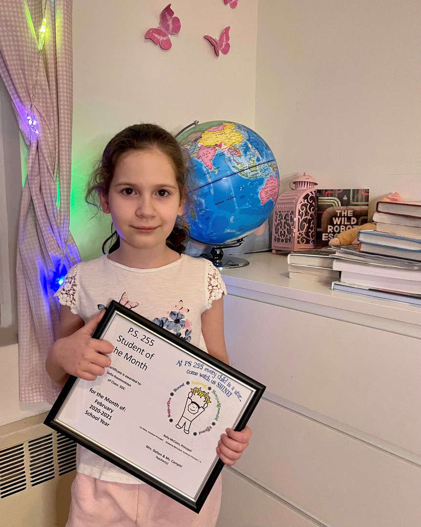 Sofia February Student of the Month