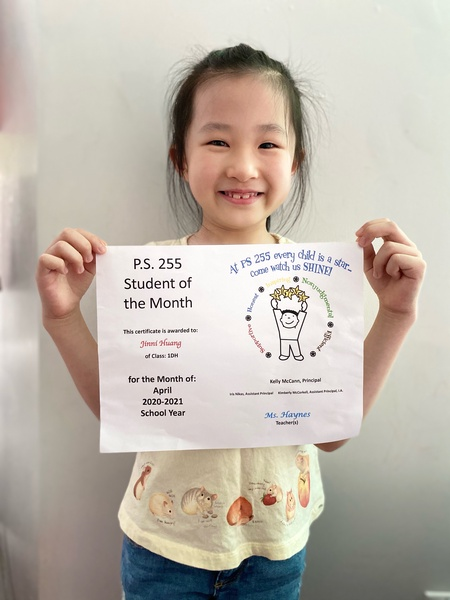 Jinni April Student of the Month