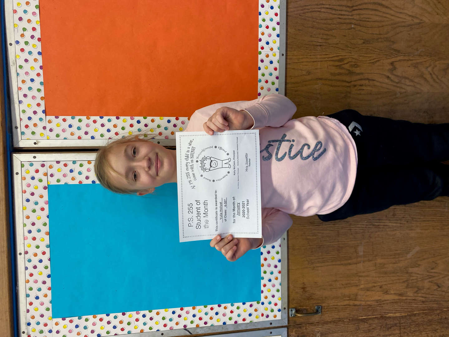 Yulia January Student of the Month