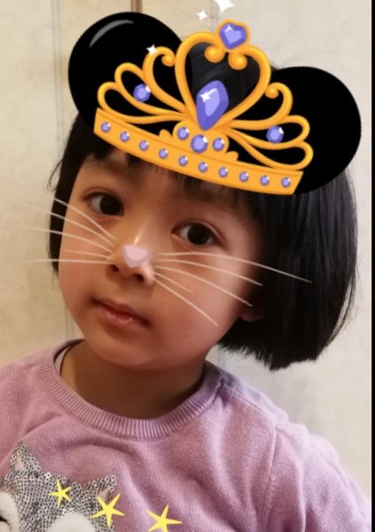 girl with crown and whiskers