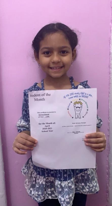 Rowena April Student of the Month