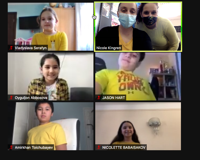 students wearing yellow for inspiration