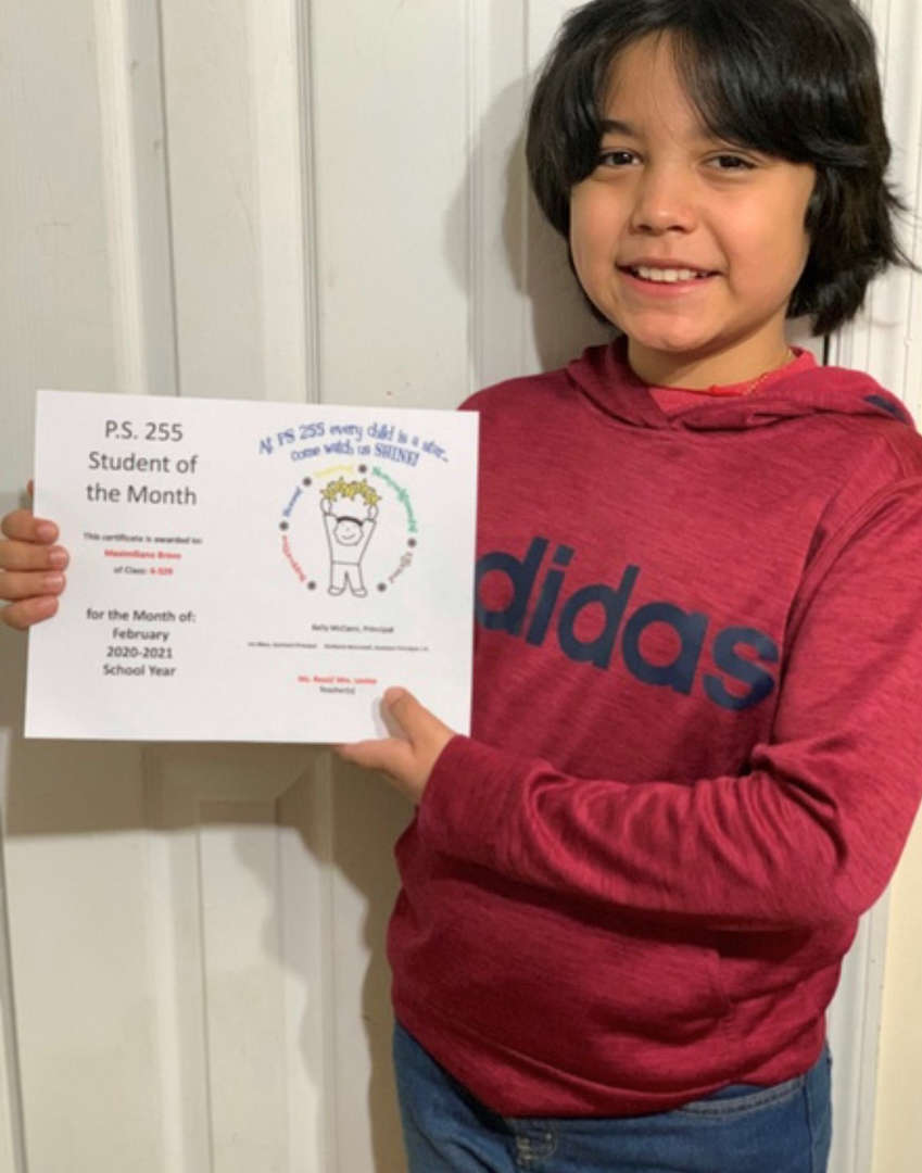 Max February Student of the Month