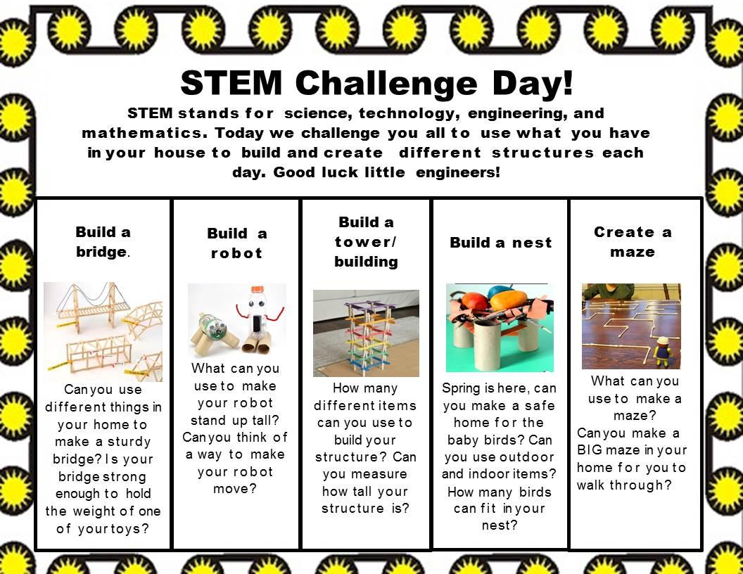 STEM Challenge Day Chart