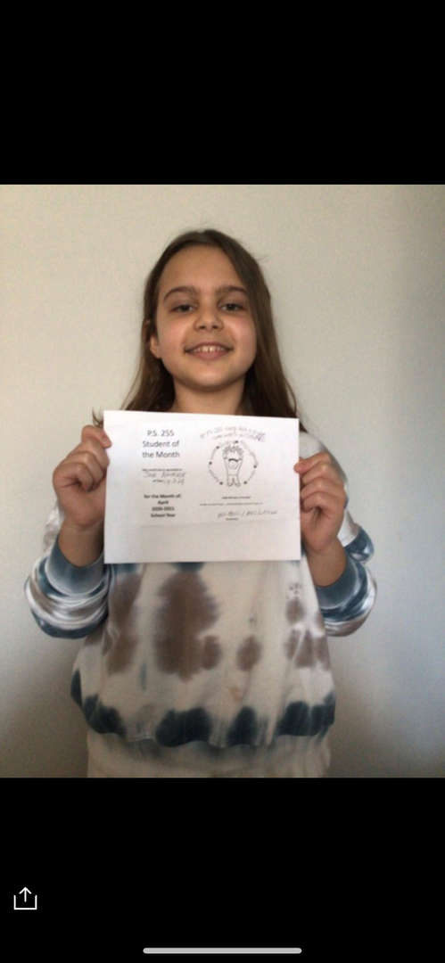 Jade April Student of the Month