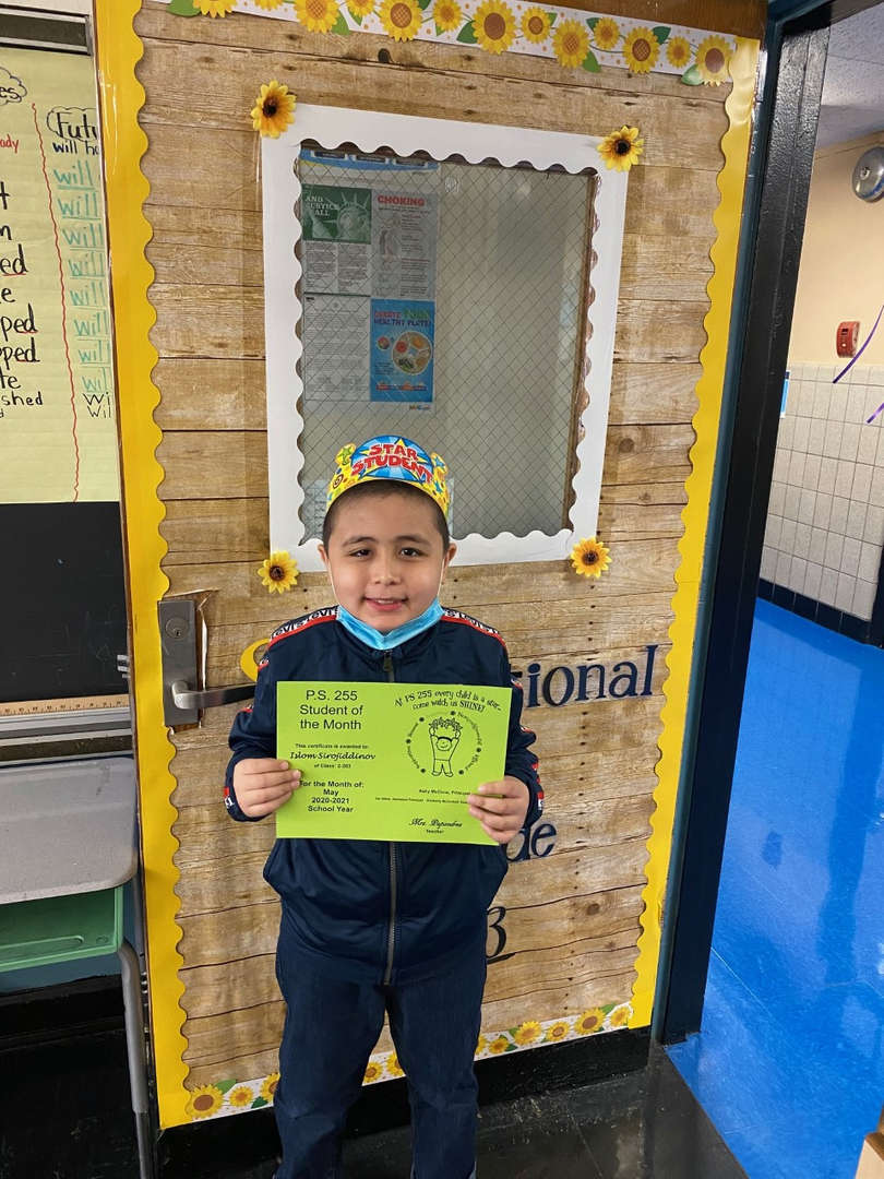 Islom May Student of the Month