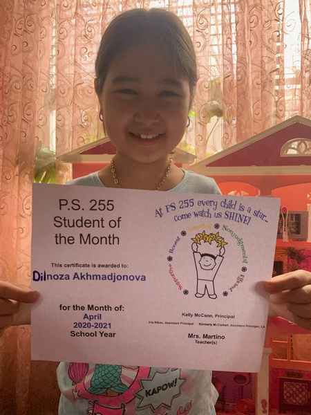 Dilnoza April Student of the Month