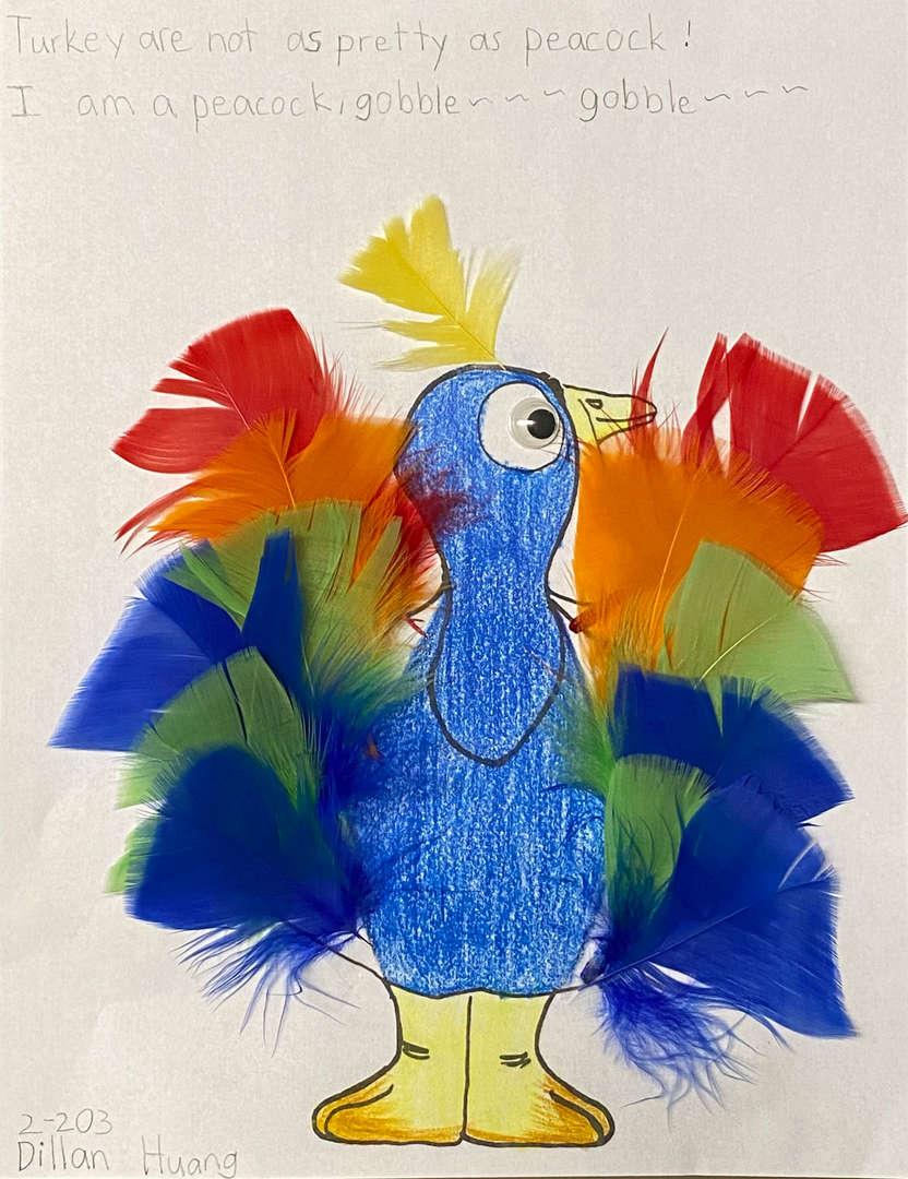 Peacock turkey