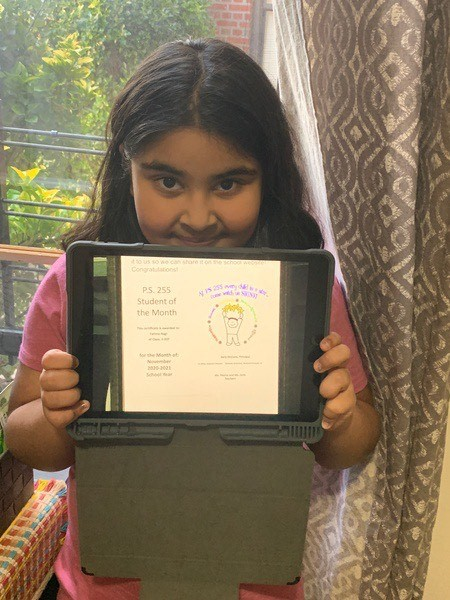 Fatima November 2020 Student of the Month