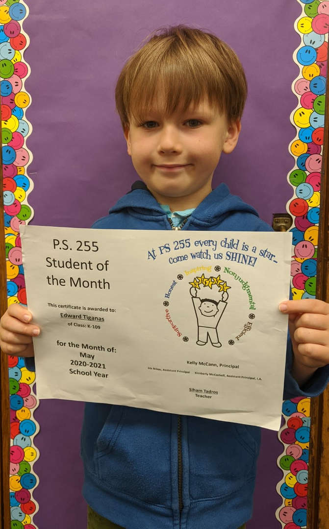 Edward May Student of the Month
