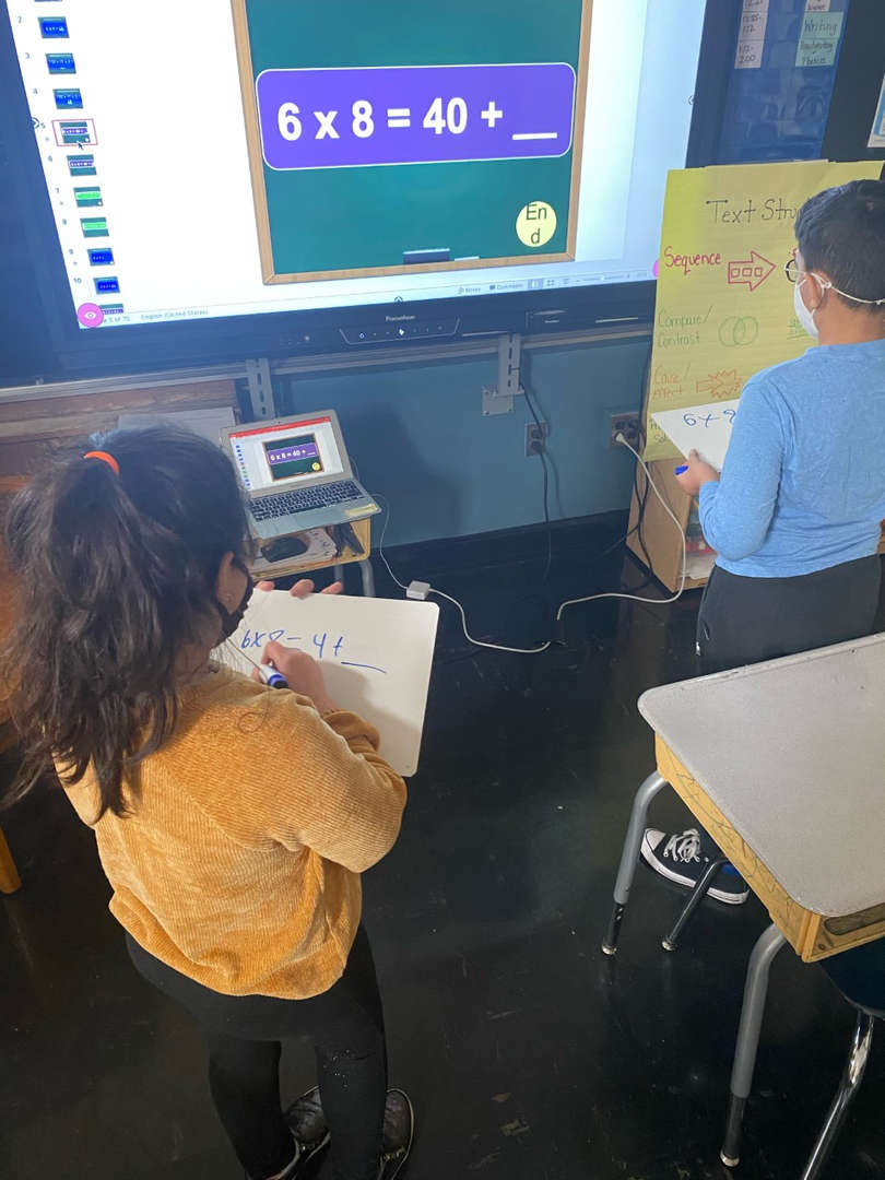 Two student compete for March Mathness tournament