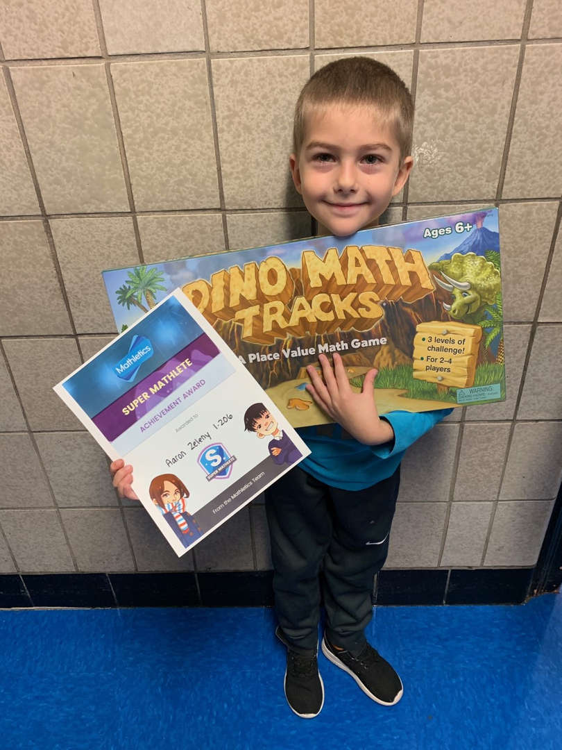 Student who is the Mathletics winner for October.