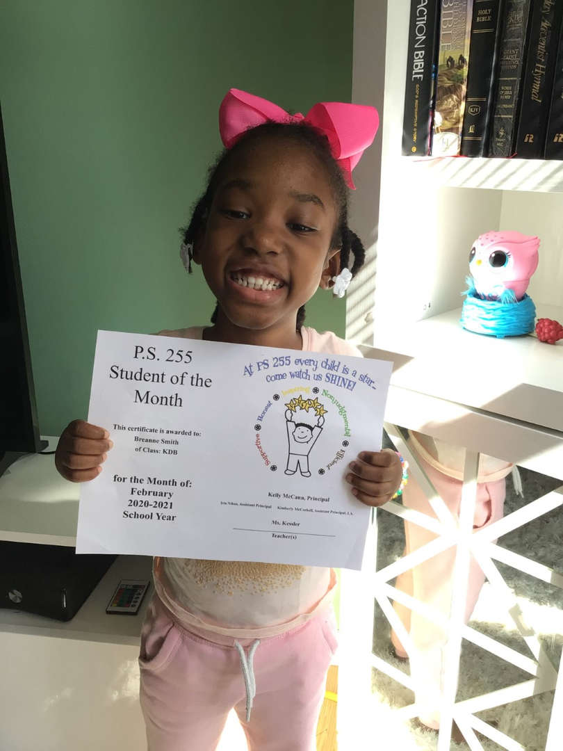 Breanne February Student of the Month