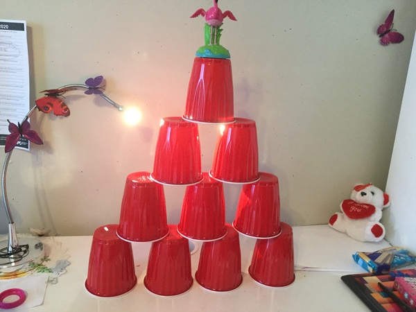cup pyramid tower