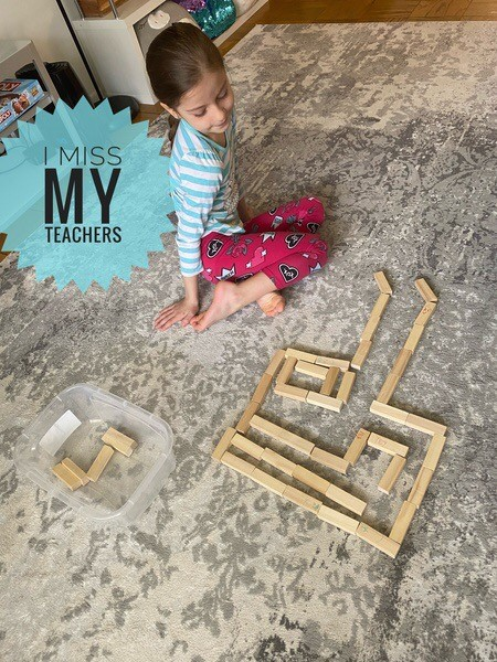 the wooden blocks make up this maze