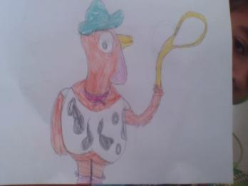 turkey with a lasso