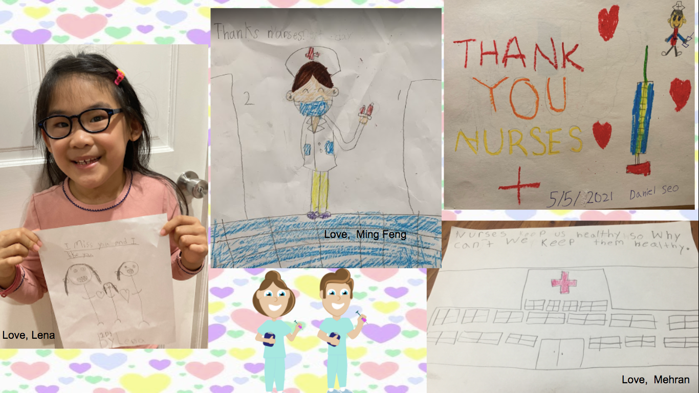 a collection of thank you cards for our nurses