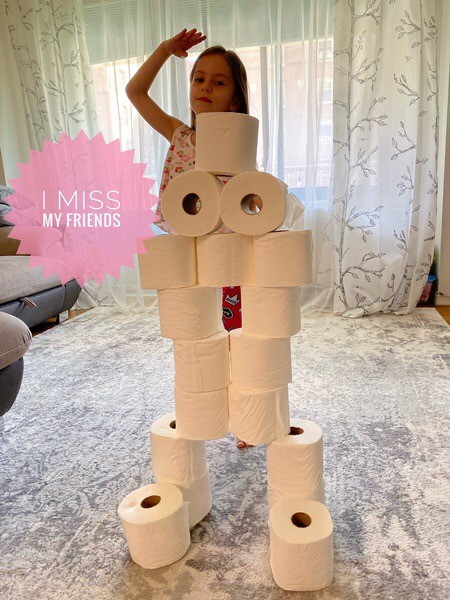 a toilet paper creation