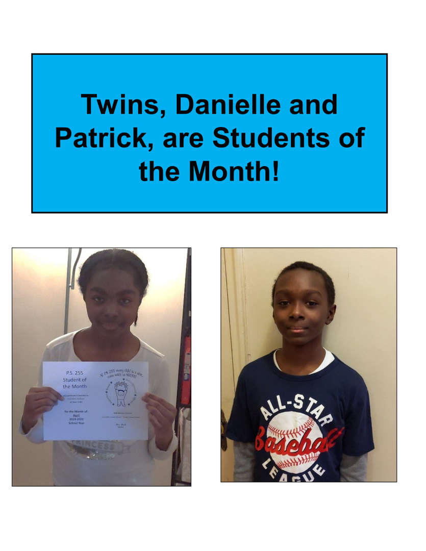 Twins student of the month