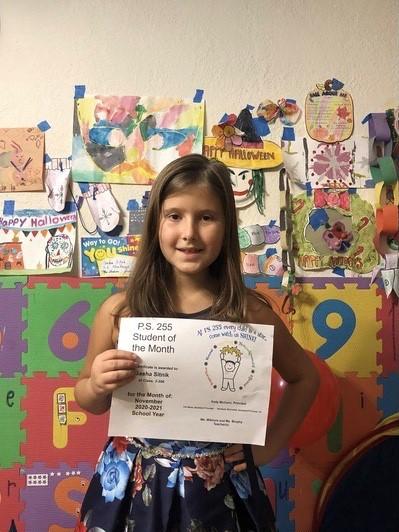 Sasha November 2020 Student of the Month