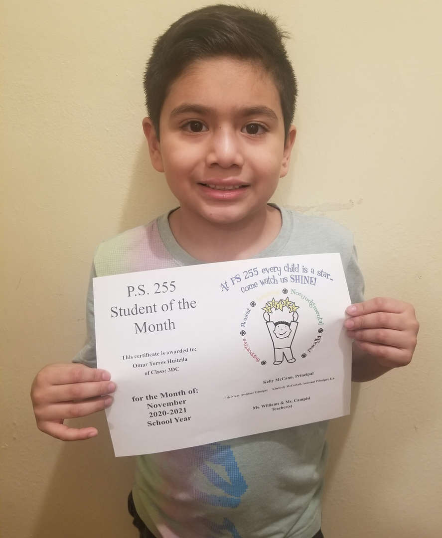Omar November 2020 Student of the Month