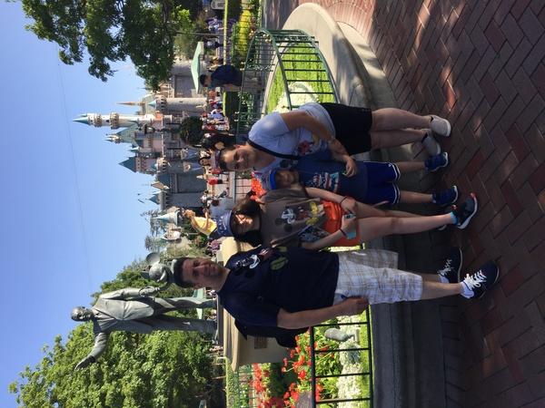 family photo at Disney