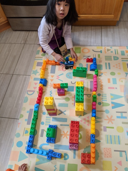 the child organized her maze by colors
