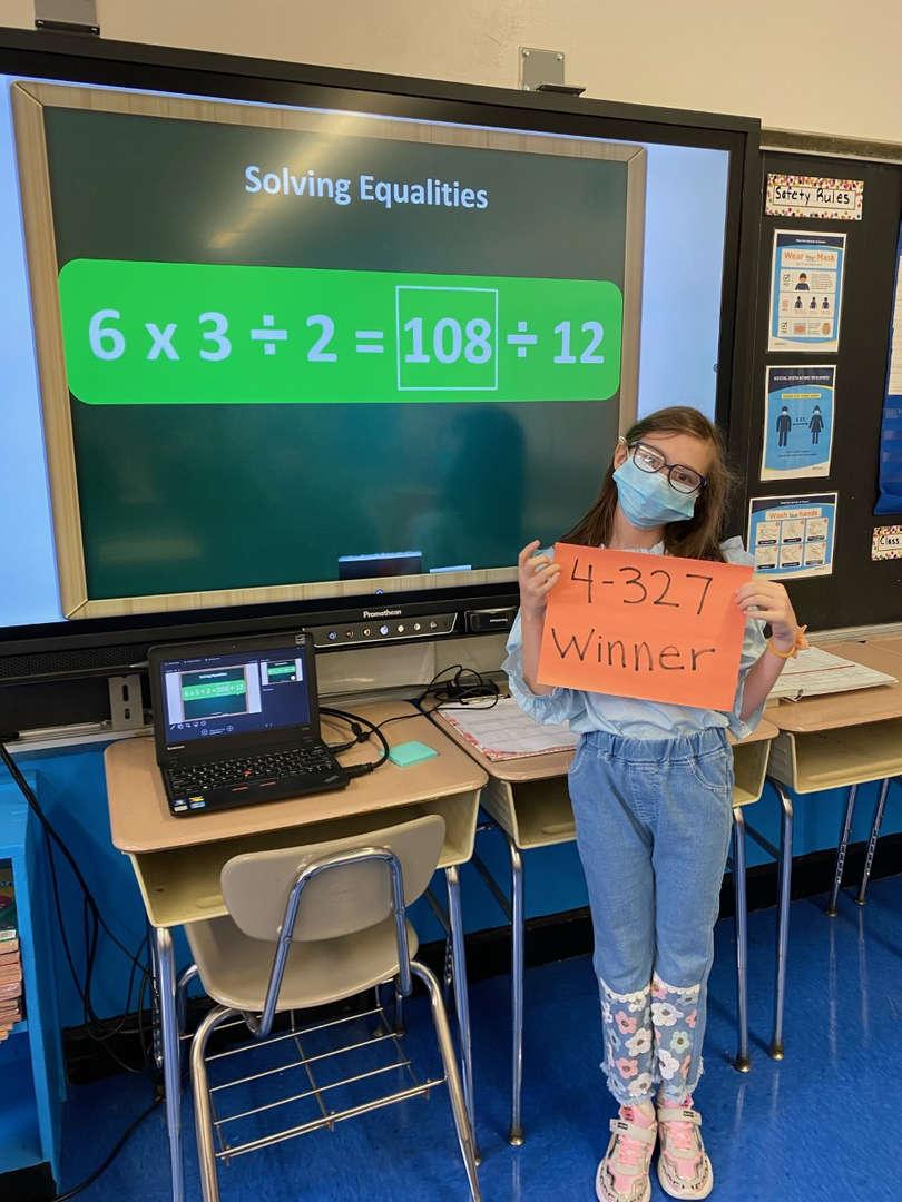 Math Winner from 4-327