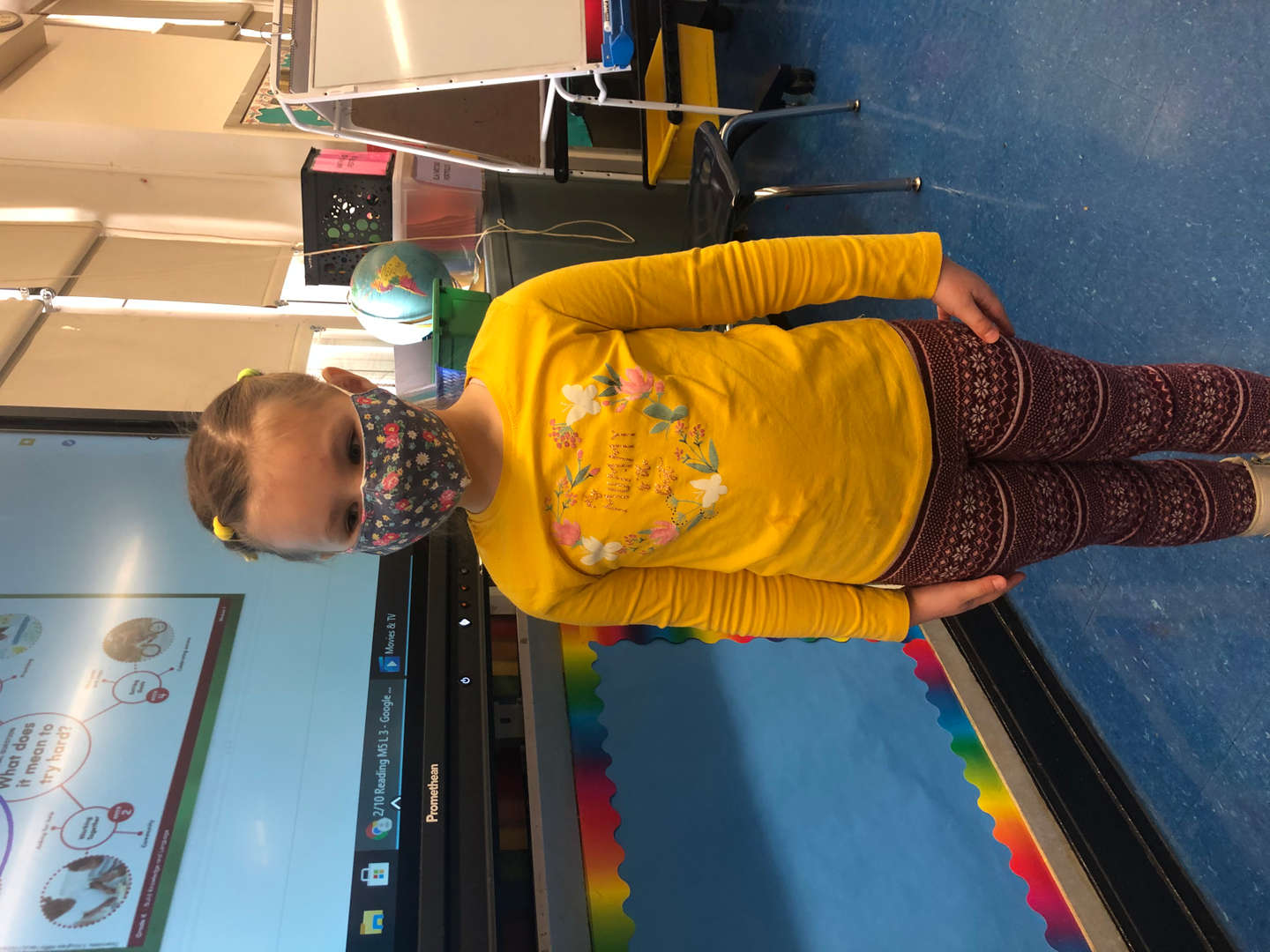 student wears yellow for inspiration