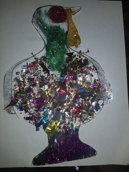 Turkey with sparkles