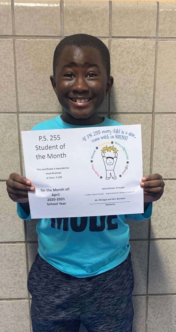 Imad April Student of the Month