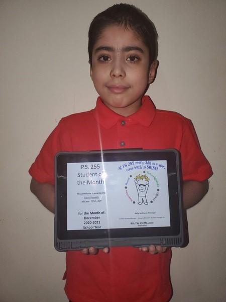 Uzair December Student of the Month