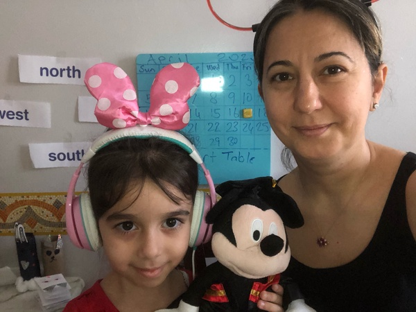 Minnie mouse headphones and Mickey Mouse