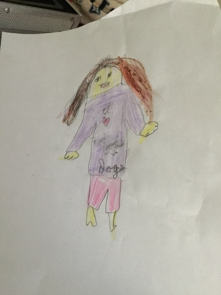 Student drawing of little girl