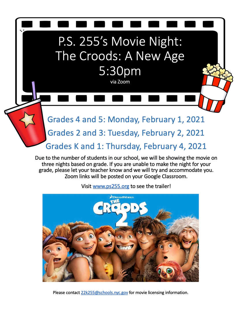 ps 255 movie night details and movie