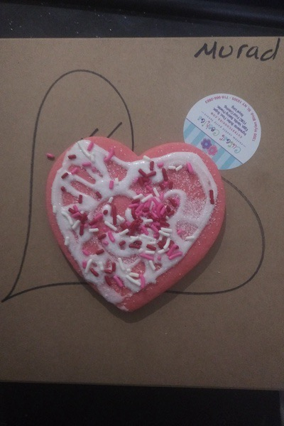 pink heart shaped cookie