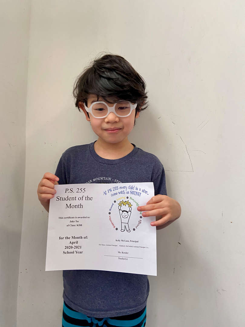 Jake April Student of the Month