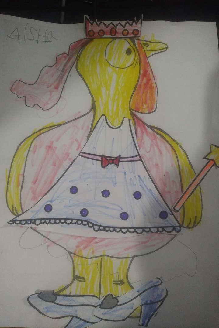 turkey in a dress with spots