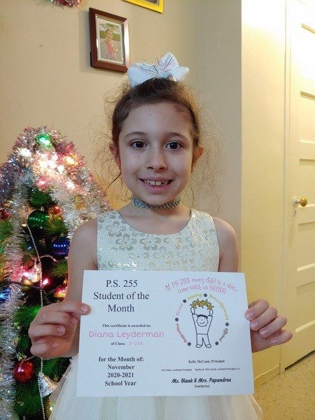 Diana November 2020 Student of the Month