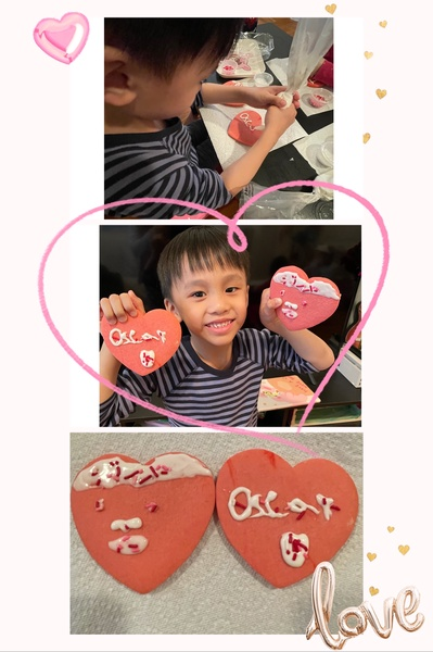 heart picture to show the heart decorated cookies
