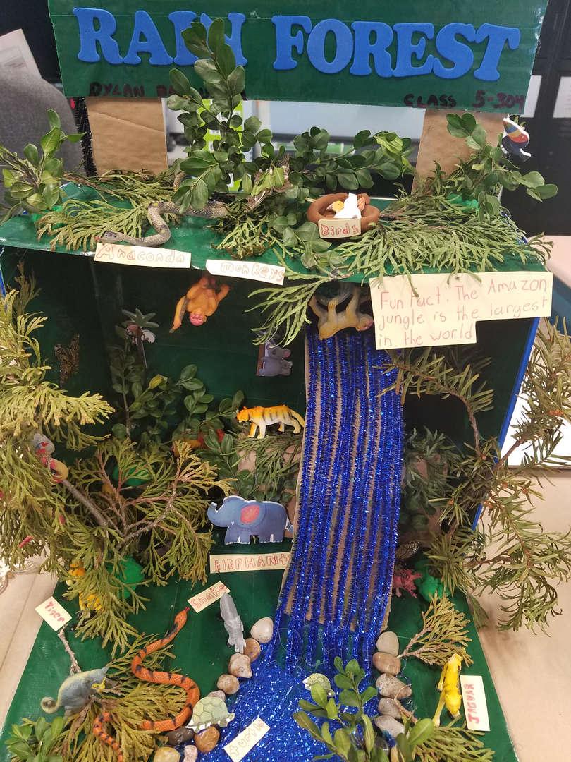 "<img src=""rainforest.png"" alt=""cardboard rainforest artificial plants and animals"""