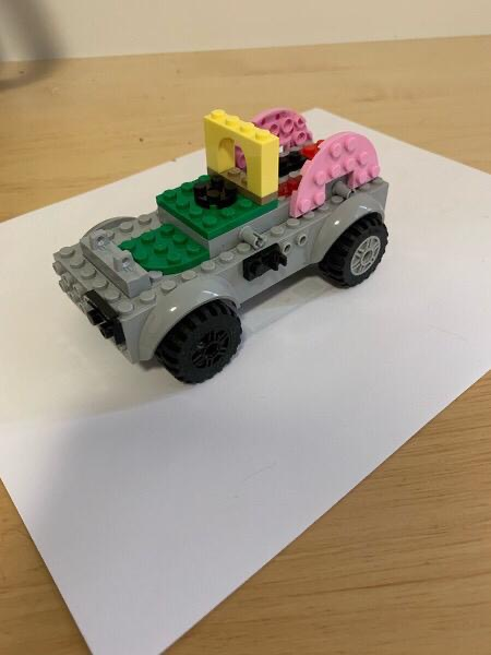 Student built Lego truck