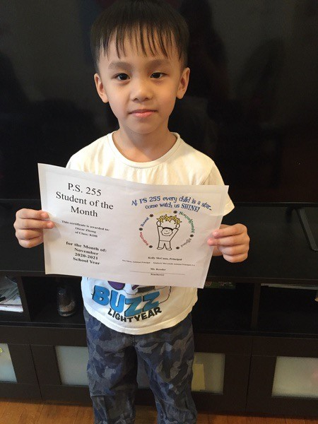 Oscar November 2020 Student of the Month