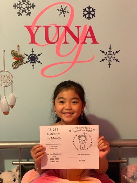 Yuna May Student of the Month