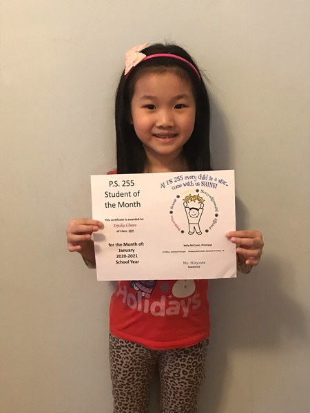 Emily January Student of the Month