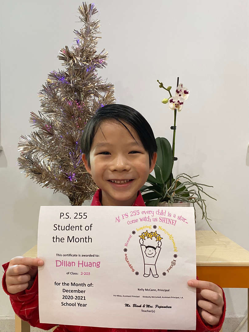 Dillan December Student of the Month