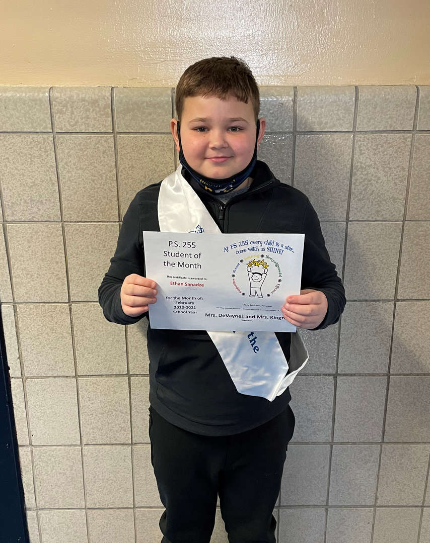Ethan February Student of the Month